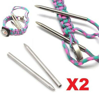 X2 550 Paracord Fids Lacing Stitching Weaving Needles Stainless Steel Needles ^