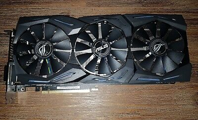 Nvidia ASUS Strix 1080 8gb Gaming Graphics Card with Receipt