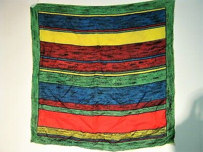 Very Chic Vintage 50S/60S Hand Rolled Silk Scarf.