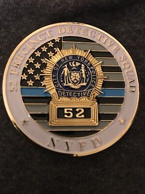 B94 NYPD CHALLENGE COIN 52 52nd PCT PRECINCT Police Detective Squad