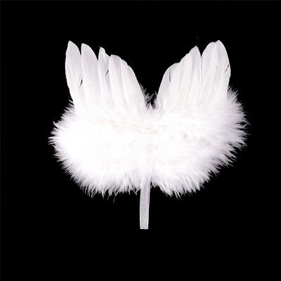 Infant Newborn Boy Girl Fairy Feather Pure white Angel Wings Decor FE
