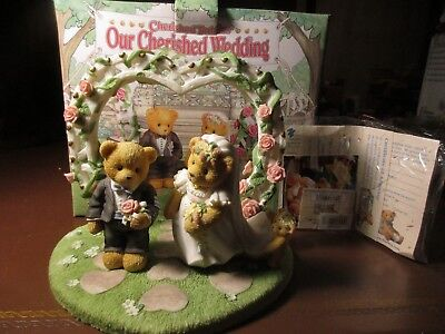 Enesco Cherished Teddies Our Cherished Wedding 510254 Bride & Groom NEW IN BOX