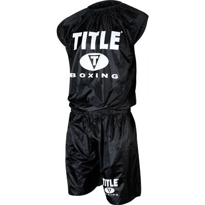 (XX-Large) - TITLE Boxing Pro Set Nylon Sweat Suit. Best Price