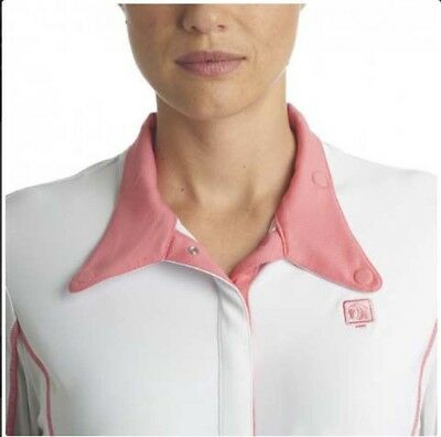 (Medium, Melon) - Romfh Ladies Competitor LS Show Shirt. Free Shipping