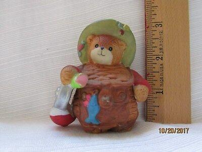 Lucy & Me Enesco Bear Fisherman with Fish Figurine Lucy Rigg 1993