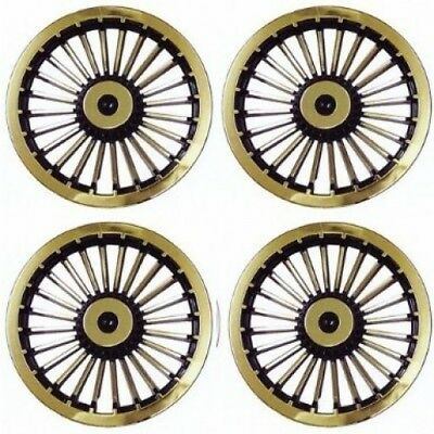 20.3cm Golf Cart Turbine Wheel Covers Hub Caps (Set of 4). Free Delivery