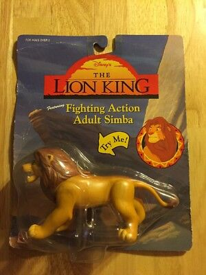 Lion King Action Figures On Card Fighting Simba Super Rare Original Toy Disney