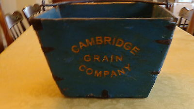 Reproduction Grain Bucket for Primitive/ Country Collectibles