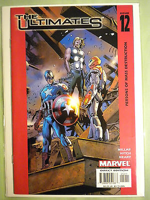 THE ULTIMATES#12 Millar Hitch 1st Print 2002 Marvel Comic Book Avengers Iron Man