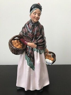Royal Doulton The Orange Lady HN1759 Pink Dress Red and Green Shawl