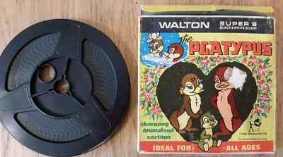 Super 8 Cine Film THE PLATYPUS Walton bw silent animation