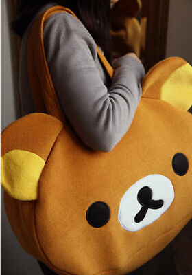 Hot! Rilakkuma San-X Cute Big Bag Handbag Bag Shoulder Bag Plush Relax Brown Bea