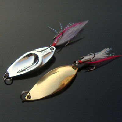 1pcs Bass CrankBait Hook Minnow Spoon Crank Bait Tackle VIB Metal Fishing Lures