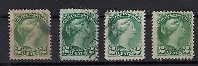 CANADA #36 2c  different shades   SMALL QUEEN ISSUE 1870-1897