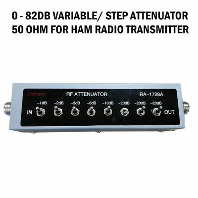 NEW 0 - 82DB VARIABLE/ STEP ATTENUATOR 50 OHM for Ham Radio Transmitter etc #CB4