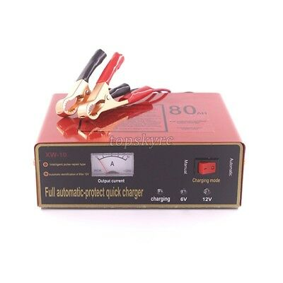 Intelligent Full Automatic 6V/12V 80AH Quicker Battery Charger XW-10 6AH-80AH