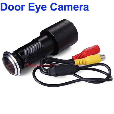 Wired Door Eye Hole Peephole Video Security Camera Viewer 170 Degree Wide Angle