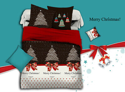 Merry Xmas Duvet/Doona/Quilt Cover Set Double/Queen/King/Super King Size Bed New
