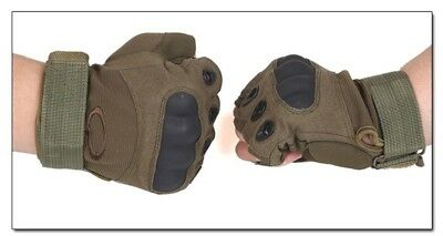 (#2, X-Large) - Half-finger Gloves Armour Type Protection Against Skid Outdoor