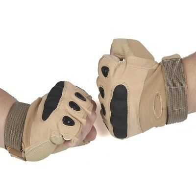(#3, X-Large) - Half-finger Gloves Armour Type Protection Against Skid Outdoor