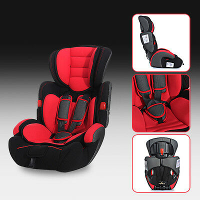 Red Convertible Car Seat Infant Safety Child Baby Kid Booster Group 1/2/3 9-36kg