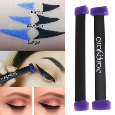 Beauty Makeup Silicone Eyeliner Stamps Cat Eye Wing Style Eye Liner Stamper