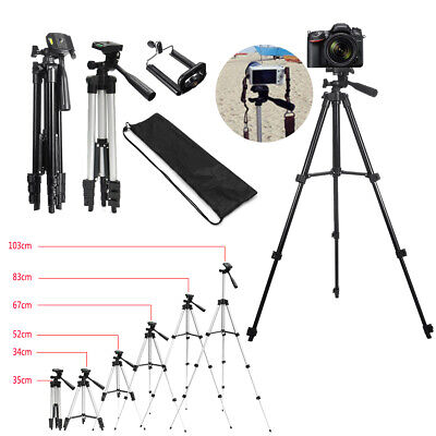 Aluminum Camera Camcorder Portable Video Tripod Stand for Canon Camera CellPhone