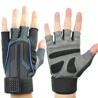 (#1, Medium) - Fitness Gloves Men And Women Semi-finger Sports Gloves Work Out