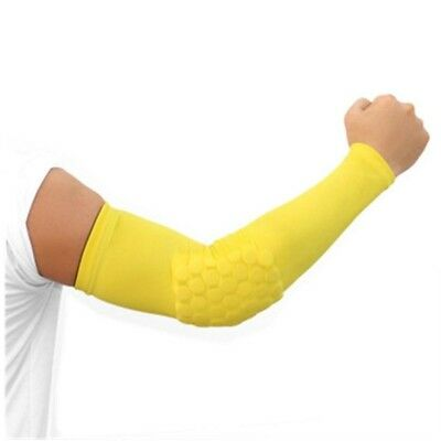 (Yellow, Small) - Men'S Protective Gear Arm Elbow Basketball Plus Anti-Skid