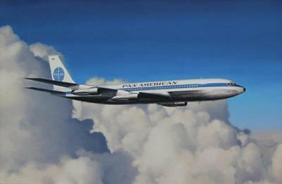 Boeing 707 Pan-Am Pan-American Airliner Plane Aviation Painting Art Print
