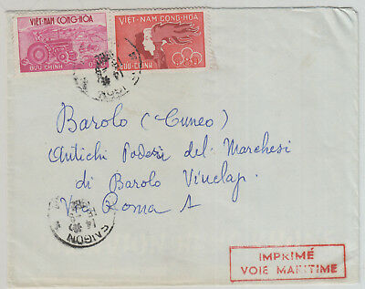Vietnam, 1982 Maritime Cover To Rome