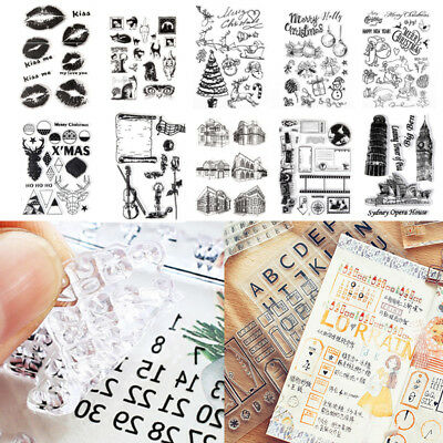 DIY Christmas Transparent Silicone Clear Rubber Cling Diary Scrapbooking Stamp