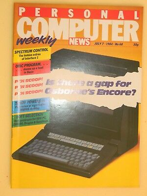 Personal Computer News No. 68 July 1984 - Osborne  Encore - type in listings