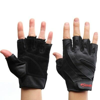 (Medium) - Fitness Gloves Men Semi-finger Sports Gloves Exercise Dumbbell