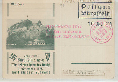 Germany , 1938 Good Used Card