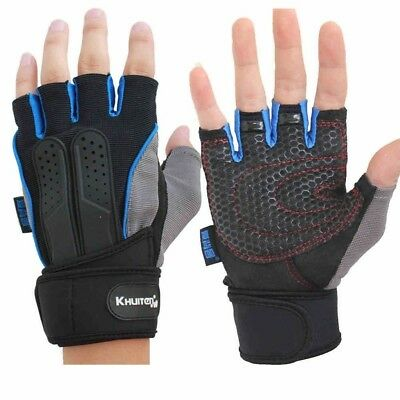 (Large) - Light Non-slip Fitness Gloves Men's Training Half-finger Gloves