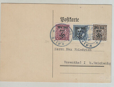 Germany , Czechoslovakia Good Used Card