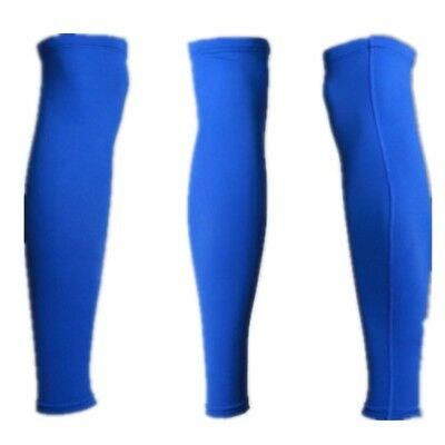 (blue lycra leggings, Large) - Outdoor Sports Guard Protects The Leg To