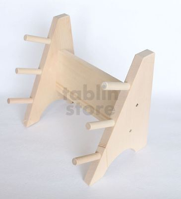 Japanese wooden knife stand display holder for 3 knives