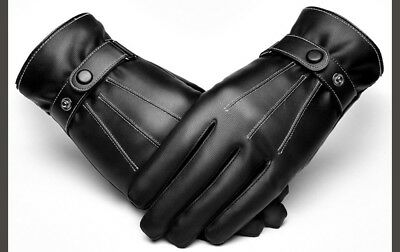 (XX-Large) - Leather Gloves Male Autumn And Winter Touch Screen Thin Section