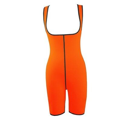 (Orange, Medium) - Evedaily Women's Slimming Compression Neoprene Sweat Suits