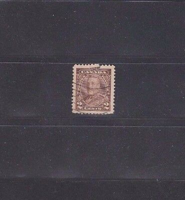 633 Canada King George V Pictorial 2 cents Brown Booklet Pane of 1935 **Cut
