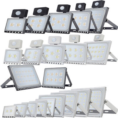 LED Floodlight 10/20/30/50/100/150/300/500W PIR Sensor Security Flood Light IP65
