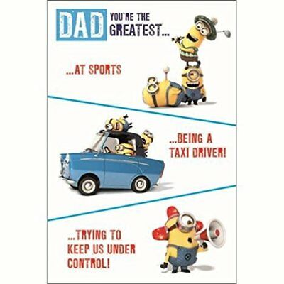Minions Father's Day Card