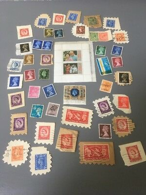 Collection Of Old U.K. Stamps