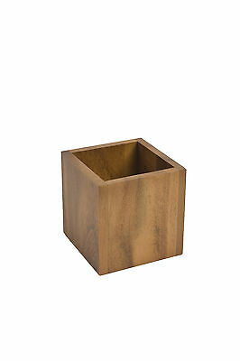 T&G Woodware Catering Small Square Storage / Display Box Acacia FREE DEL 27029