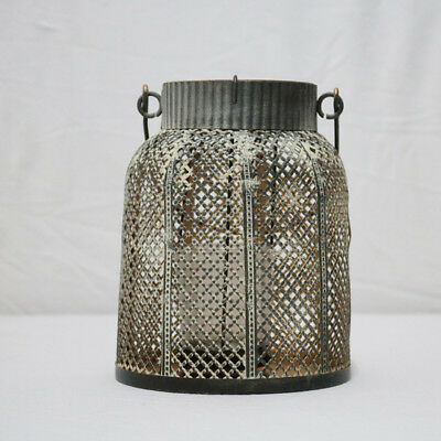 Rustic Hollow Wrought Iron Lantern Candle Holder Decorative Lamp Crafts #6