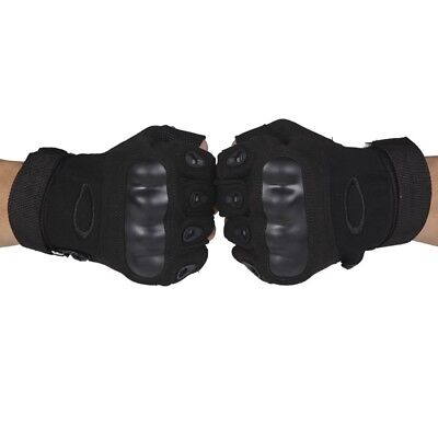 (#1, Medium) - Half-finger Gloves Armour Type Protection Against Skid Outdoor