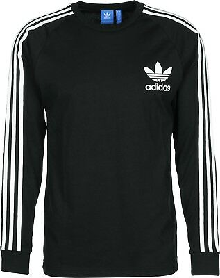 (Small, Black/Negro) - adidas Children's Clfn Long-Sleeve Top. Free Delivery