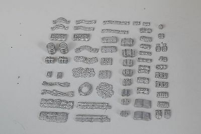 15mm 1/100th stowage crates tarps camo nets fuel cans Flames of War, Team Yankee